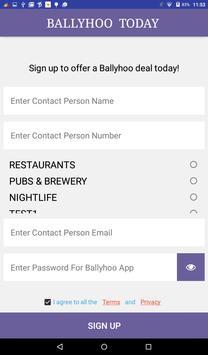 Ballyhoo Merchant App screenshot 5