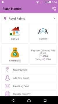 Flash Homes Paying Guest (PG) & Hostel Manager App poster