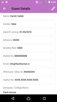 Flash Homes Paying Guest (PG) & Hostel Manager App screenshot 4