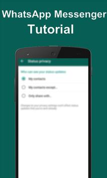 Guide For Whatsapp Messenger 2017 apk screenshot