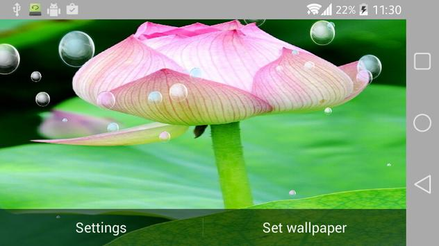 Lotus Live Wallpaper apk screenshot