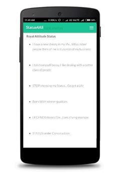 Royal Attitude Status 2018 screenshot 2