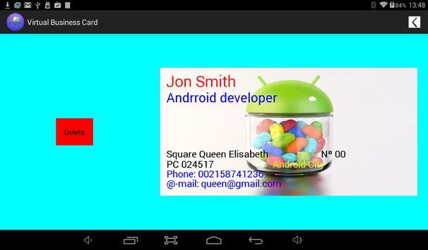 virtual business card apk screenshot - Virtual Business Card