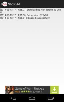 Ads Showroom for AdMob/DFP apk screenshot