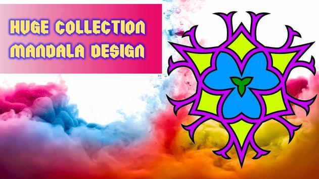 Adult Coloring Book Mandala poster