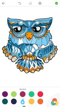 Owl Coloring Pages for Adults screenshot 1