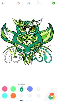 Owl Coloring Pages for Adults screenshot 9