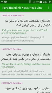 Kurdish (Behdini) News Head Line poster