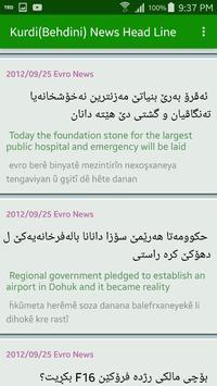 Kurdish (Behdini) News Head Line apk screenshot