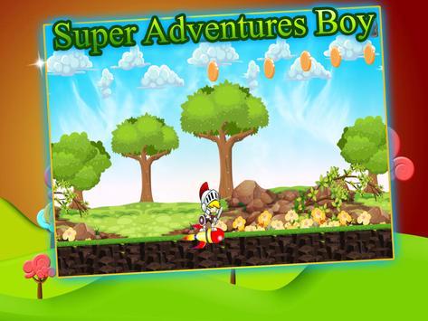 Super Adventues Boy of-mario poster