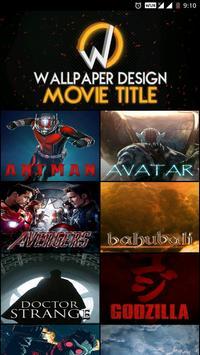 Wallpaper Design Movie Title poster