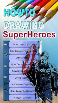 Easy How to Draw Super Hero Characters apk screenshot