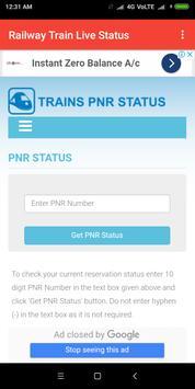 Railway Train Live Status screenshot 1