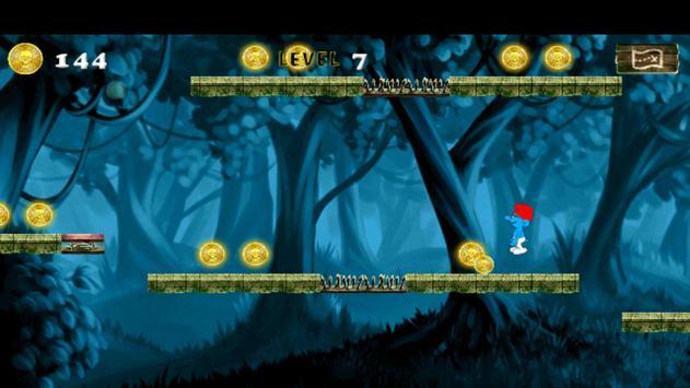 Adventure of Smurfs Running apk screenshot