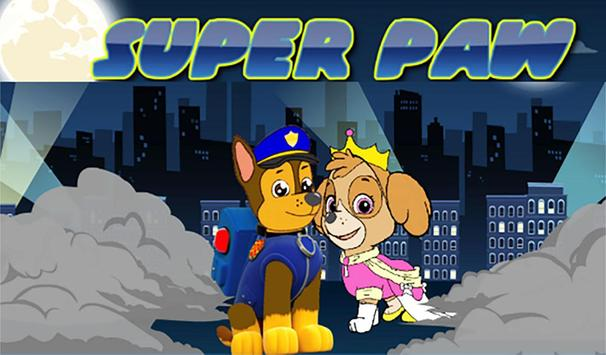 Paw puppy runner helps patrol poster