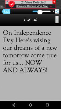 Independence Day Message Sms screenshot 6