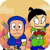 funny ninja in adventure icon