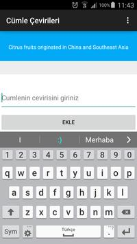Yds İngilizce Cümle Çeviri apk screenshot