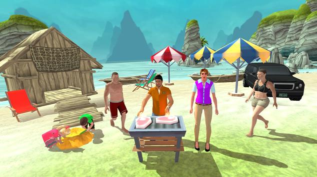 Happy Family Summer Fun Virtual Life Adventure poster