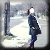 Girls Winter Dress Selfie icon