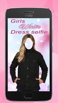 Girls Winter Dress Selfie poster