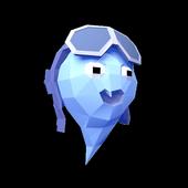 Gravity: falling ball 3d icon