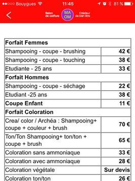 Coiffure MAOM Nantes apk screenshot