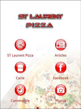 ST Laurent Pizza poster