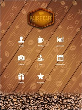 Pause Café - Les Angles poster