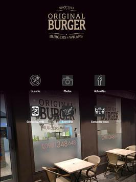 Original burger poster