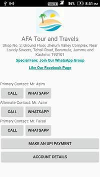 AFA Tour & Travels apk screenshot