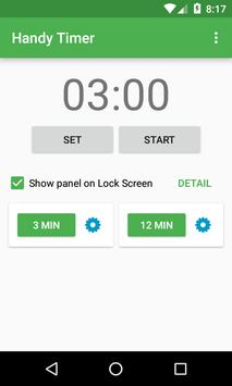 Handy Timer - on Lock Screen apk screenshot