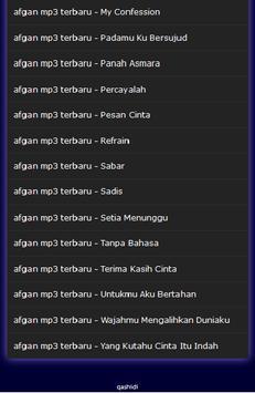 afgan mp3 terbaru screenshot 8