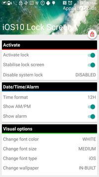 iLocker10 : iOS 10 Lock Screen apk screenshot
