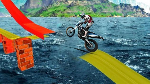 Tricky Bike Stunt Race 3d screenshot 1
