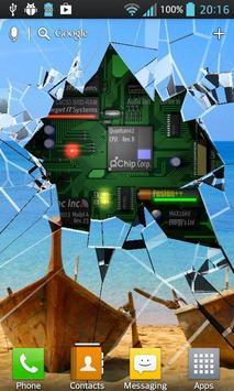 Cracked Screen Gyro 3D Parallax Wallpaper HD poster