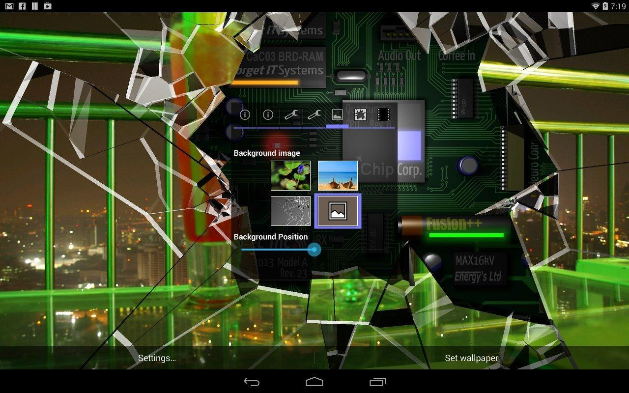 Cracked Screen Gyro 3d Parallax Wallpaper Hd For Android Apk Download