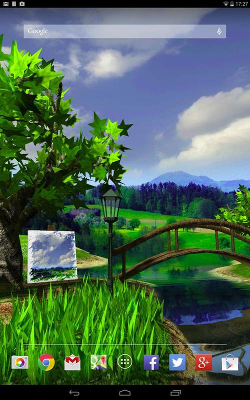 Parallax nature summer day 3d gyro wallpaper for android - Nature wallpaper apk ...