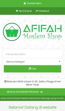Afifah Moslem Shop poster