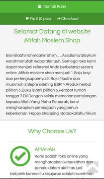 Afifah Moslem Shop screenshot 1