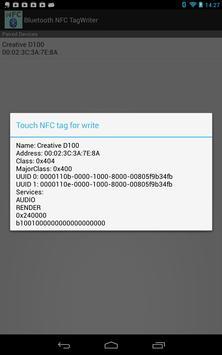 Bluetooth NFCタグライタ apk screenshot