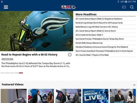 Arena Football League apk screenshot