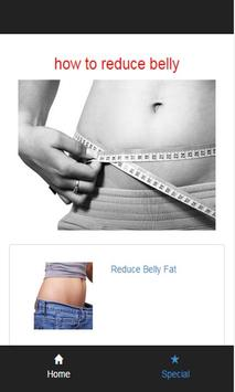 how to reduce belly poster