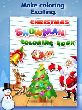 Christmas Snowman Color Book poster