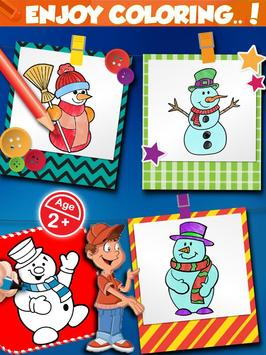 Christmas Snowman Color Book screenshot 2