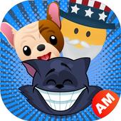 Emoji for Samsung - Cute Puppy, Cat, Animal Emoji icon