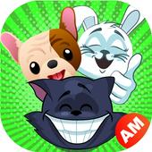 Emoji for WhatsApp - Cute Puppy, Cat, Animal Emoji icon