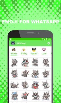 Emoji for WhatsApp - Cute Puppy, Cat, Animal Emoji poster