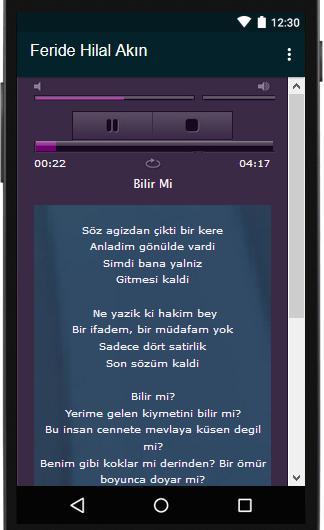 Feride Hilal Akin Sarki Sozler For Android Apk Download