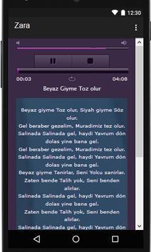 Zara şarkı sözleri screenshot 1